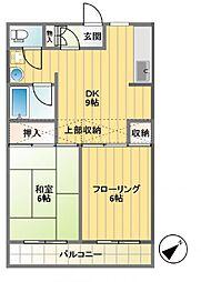 エステート幡ヶ谷[T3号室]の間取り