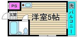 マキシム新淀川[102号室]の間取り
