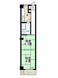 奥平マンション[4階]の間取り