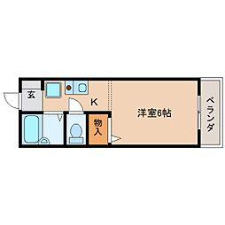 奈良県天理市丹波市町の賃貸アパートの間取り