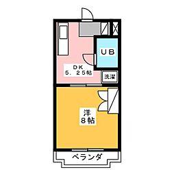 馬込川マンション[2階]の間取り
