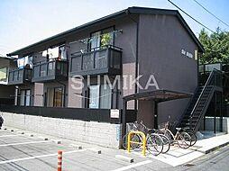 岡山県岡山市北区絵図町の賃貸アパートの外観