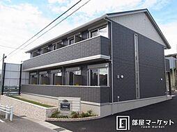 愛知県岡崎市羽根町字小豆坂の賃貸アパートの外観