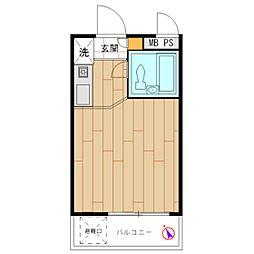 モナークマンション溝の口第2[0206号室]の間取り