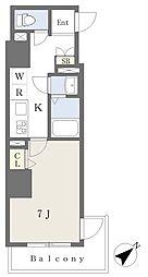 東京メトロ有楽町線 要町駅 徒歩11分の賃貸マンション 6階1Kの間取り