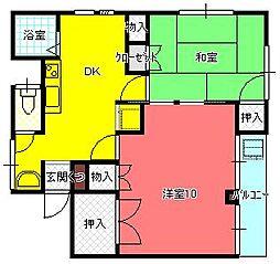 東京都小金井市中町4丁目の賃貸マンションの間取り
