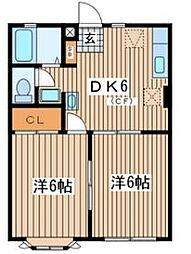 ホワイトコート鵠沼[1階]の間取り