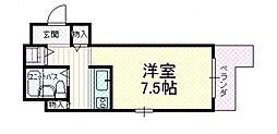 ハイネス石川[8階]の間取り