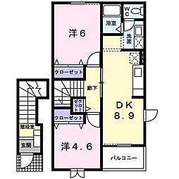 サンパティIII[2階]の間取り