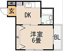 ジュネス菱屋西[3階]の間取り