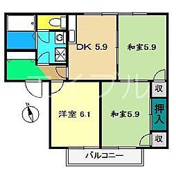 リバーハイツ(大津)B棟[1階]の間取り