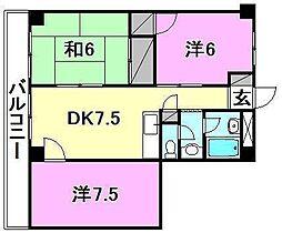 第94杉フラット[407 号室号室]の間取り