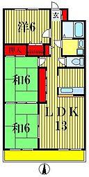 ペアヒル20世紀[5階]の間取り