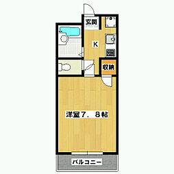 銀頂ハイツME[1階]の間取り
