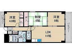 南山寿ガーデン[3階]の間取り