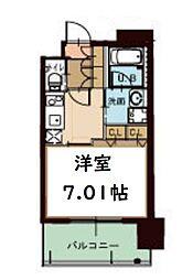 プレジオ南堀江[8階]の間取り