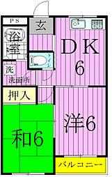 メゾンコムラ[203号室]の間取り