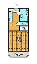 神奈川県相模原市南区相模台3丁目の賃貸マンションの間取り