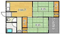 大阪府高槻市寿町2丁目の賃貸マンションの間取り