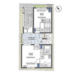 つくばエクスプレス 浅草駅 徒歩8分の賃貸マンション 1階ワンルームの間取り