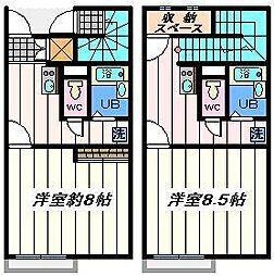東京都江戸川区宇喜田町の賃貸アパートの間取り