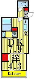 J.maison 1階1DKの間取り