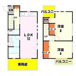 [一戸建] 東京都足立区六月2丁目 の賃貸【東京都 / 足立区】の間取り