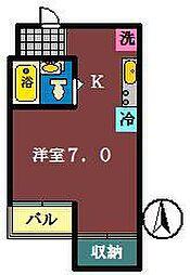 船橋プレイス[405号室]の間取り