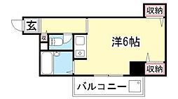 兵庫県神戸市中央区中山手通3丁目の賃貸マンションの間取り