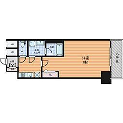 ファーストフィオーレ東梅田 14階1Kの間取り