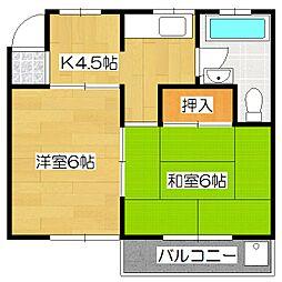 西野山マンション[2階]の間取り