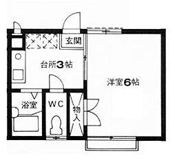エステートピアトヨダ[2階]の間取り