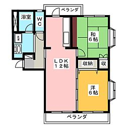 ロイヤルハイツCHIBA[2階]の間取り