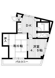 東京都練馬区高野台4丁目の賃貸マンションの間取り