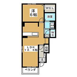 ボナールハイムII[1階]の間取り