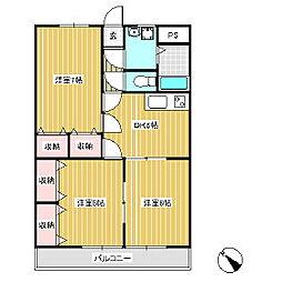 ブルーベリーズマンション[2階]の間取り