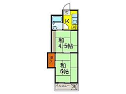 愛媛県松山市樽味1丁目の賃貸マンションの間取り