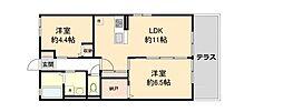Maison  NOZOMI   (メゾンノゾミ) 1階2LDKの間取り