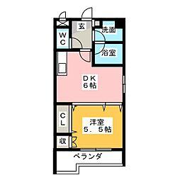 フレアコート[2階]の間取り
