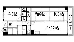 ラフィネ芳樹[1階]の間取り