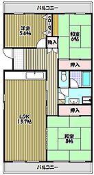 藤沢台第1住宅301棟[3階]の間取り