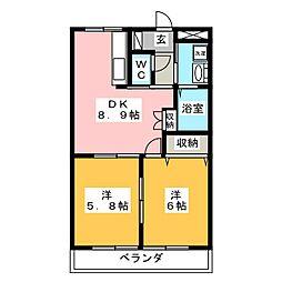 アメニティーハウスA[2階]の間取り