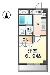 愛知県清須市東須ケ口の賃貸アパートの間取り