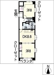 ガーデンコート[4階]の間取り