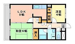 神奈川県川崎市宮前区小台2丁目の賃貸マンションの間取り