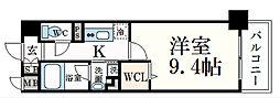 JR東海道・山陽本線 摂津本山駅 徒歩7分の賃貸マンション 2階1Kの間取り