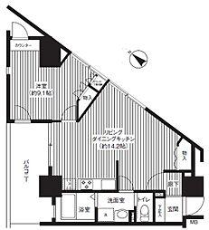 グットビュー川崎(広々LDK)[4階]の間取り