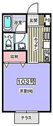 トミーズTAKESATO[103号室]の間取り