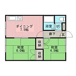 江別ロイヤルハイツ[1階]の間取り