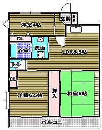 道端ビル[3階]の間取り